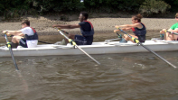 Olympic Champion Supports Youth Rowing In Chiswick
