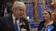 Boris Johnson Tours Sipsmith in Chiswick