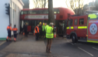 Bus Crashes in Chiswick High Road