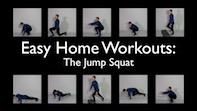 Easy Home Workouts – Jump Squat's