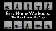 Easy Home Workouts – Back Lunge Off A Step