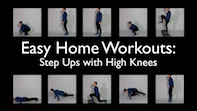 Easy Home Workouts -Step Up's With High Knees