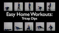 Easy Home Workouts – Tricep Dips