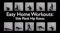 Easy Home Workouts – Side Plank Hip Raises