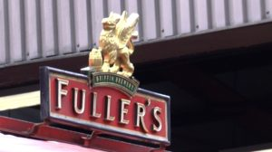 Fullers logo on dray