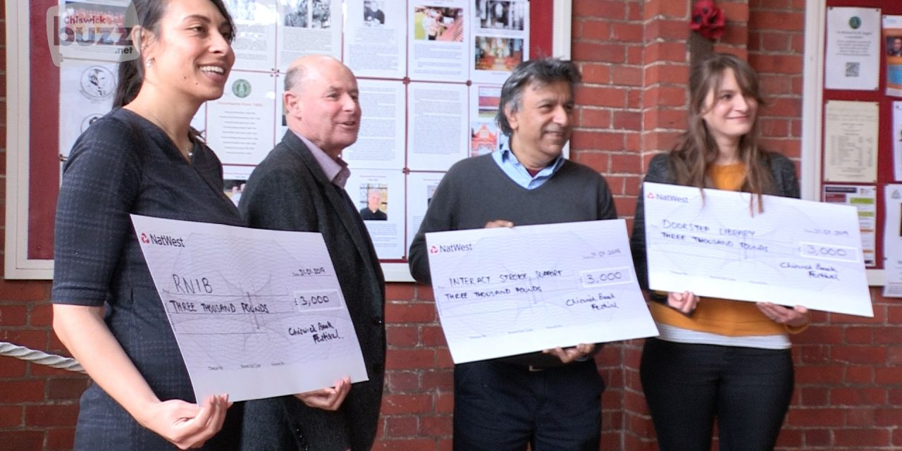 Chiswick Book Festival Donates £9000 To Charities