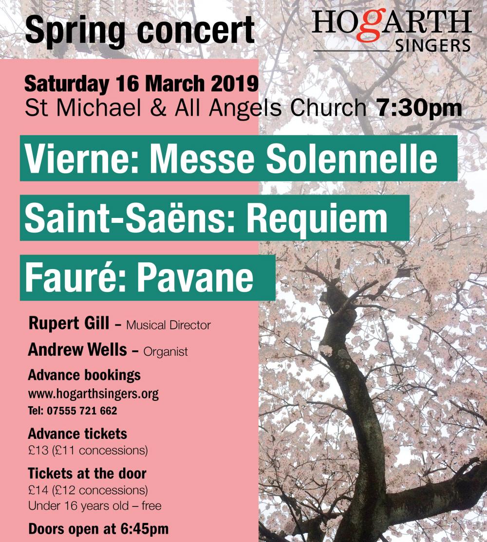 Hogarth Singers Spring Concert