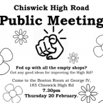 Public Meeting Chiswick High Road