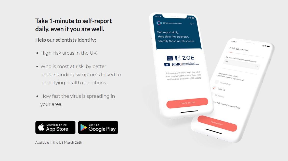 COVID-10 Symptom Tracker App Aids Research